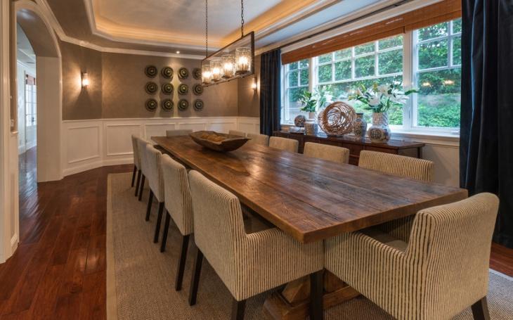 rectangular shape dining table idea
