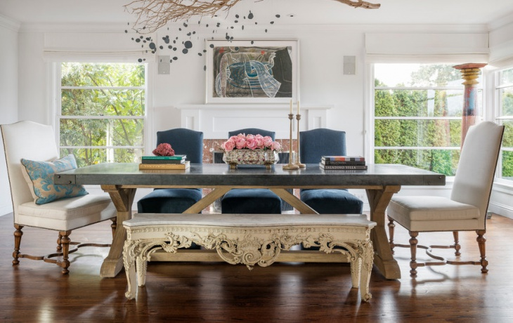 Vintage Style Dining Table Design