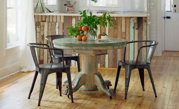 reclaimed wood dining table design