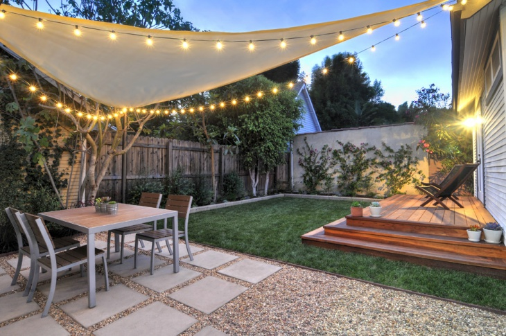backyard landscape lighting idea