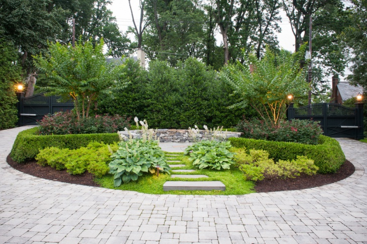 traditional backyard landscape design