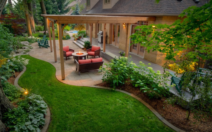 18 latest backyard landscaping designs ideas design for Cool back garden designs