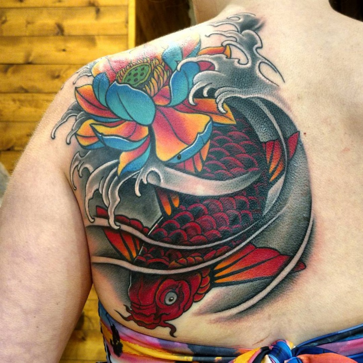 2d6e37694fa79 21+ Awesome Koi Fish Tattoo Designs, Ideas | Design Trends - Premium ...