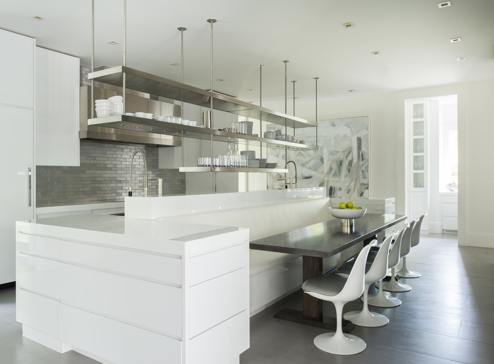 white commercial kitchen idea