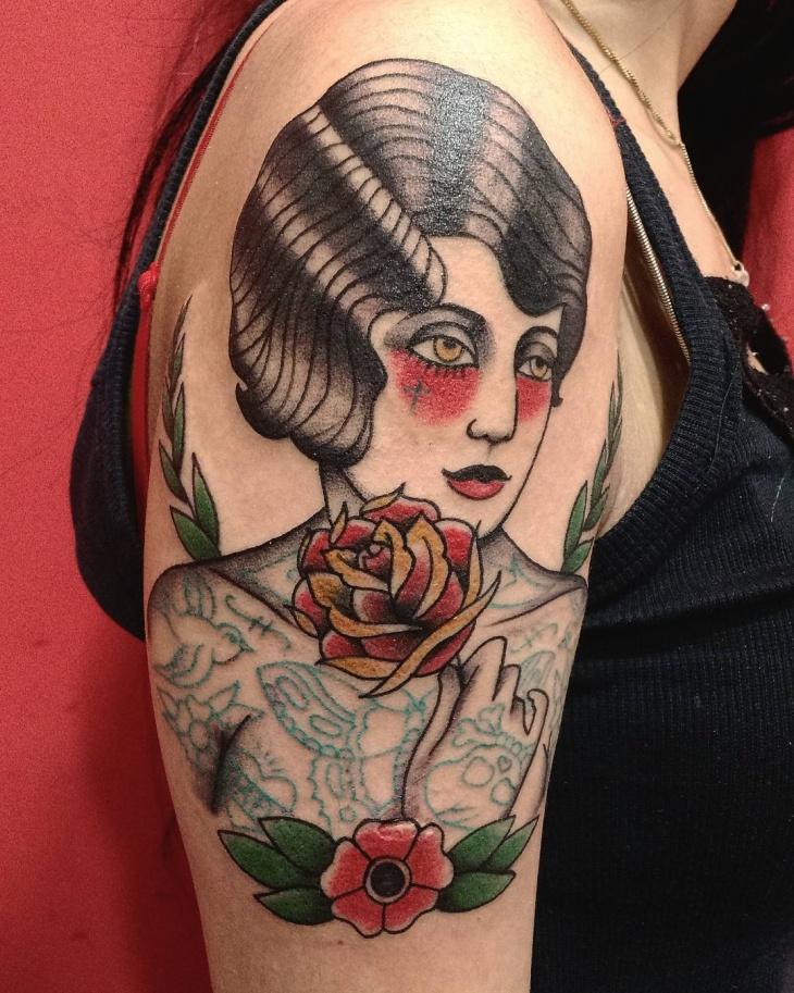 american tattoo design for women