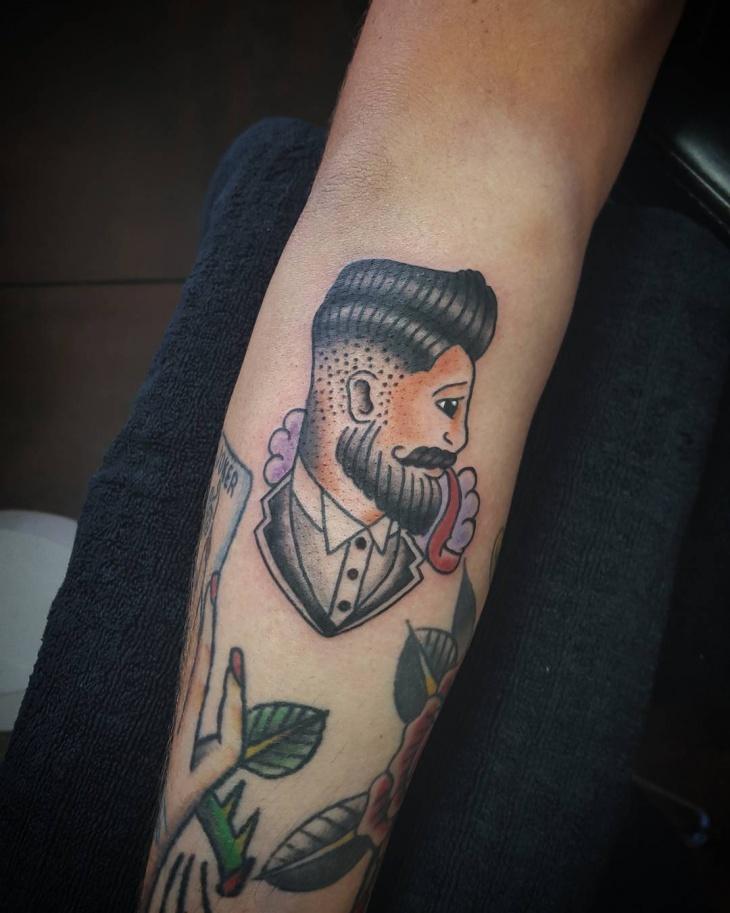 hipster american tattoo design