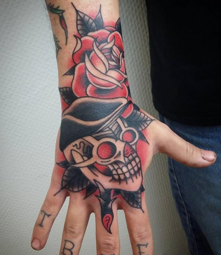 american palm tattoo design