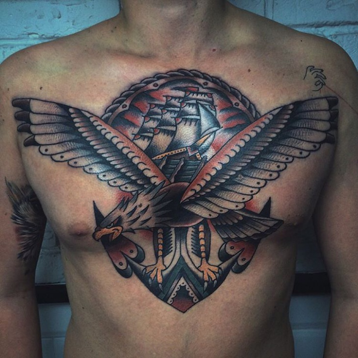 American Tattoo Design for Men