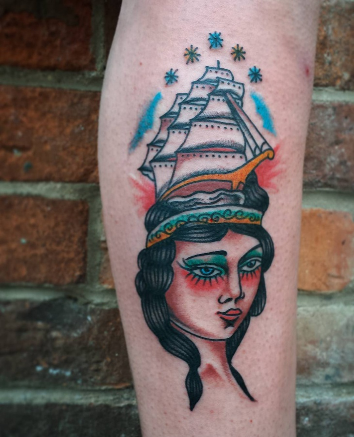 awesome american tattoo design