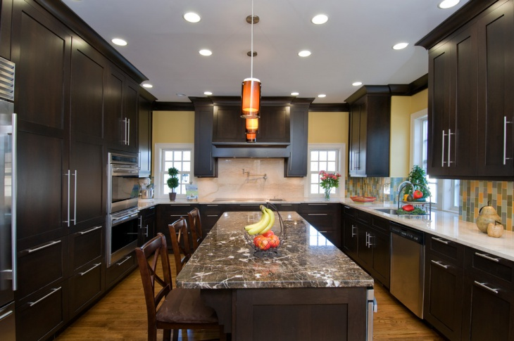 U Shaped Kitchen Cabinets Design