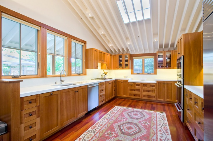 U Shaped Kitchen Ceiling Idea