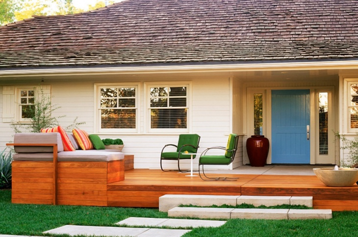contemporary wood porch design