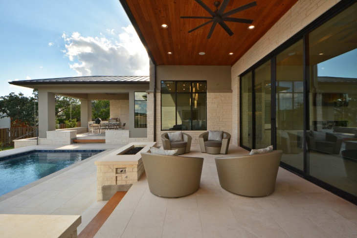 contemporary back porch design