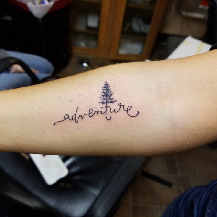 Small Tree Tattoo Design