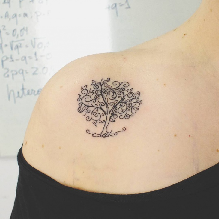 Tree Shoulder Tattoo Design
