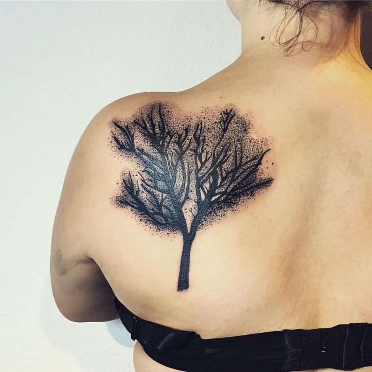 Tree Tattoo Design for Women