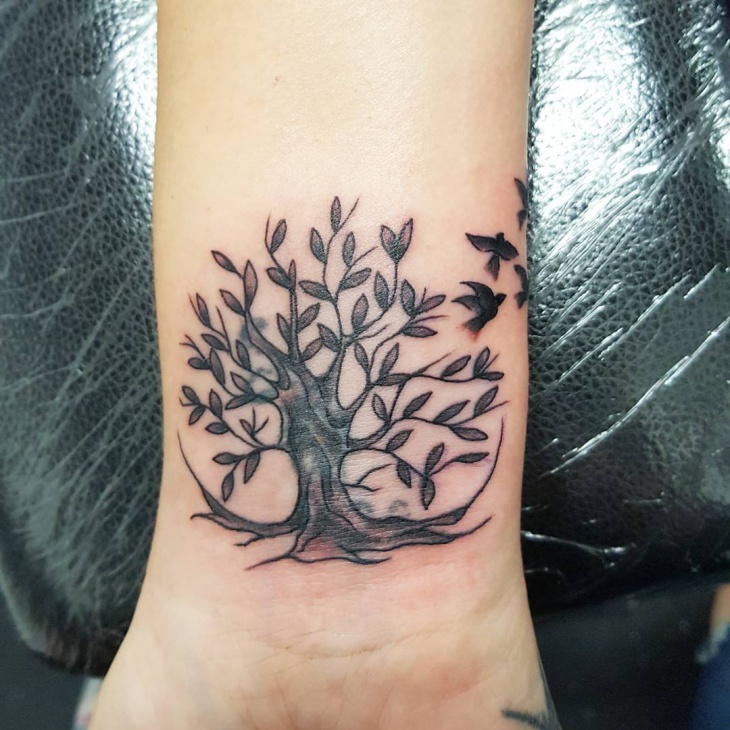 Beautiful Tree Tattoo Design