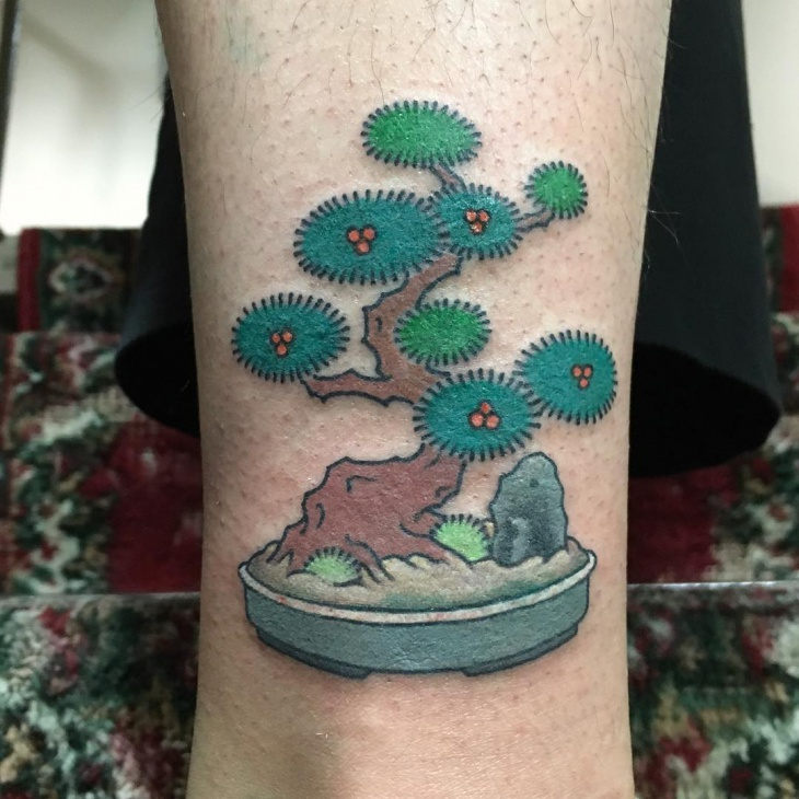 Old School Tree Tattoo Design