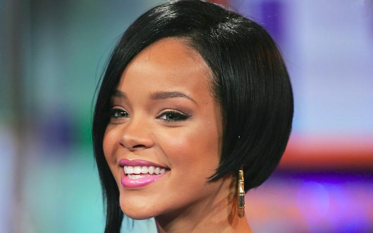 Rihanna Short Black Bob Hairstyle