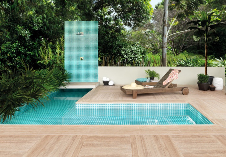 modern l shape swimming pool design
