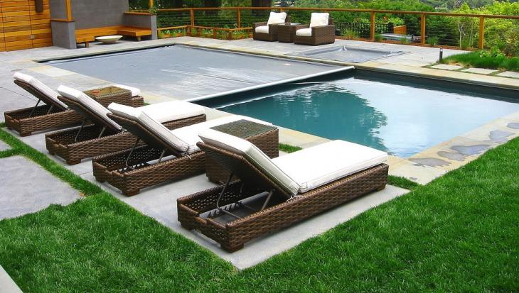 Modern Swimming Pool Lounge Furniture Idea