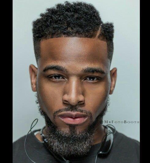 black haircut design