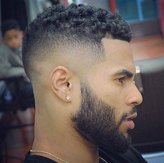 black hair cut formen