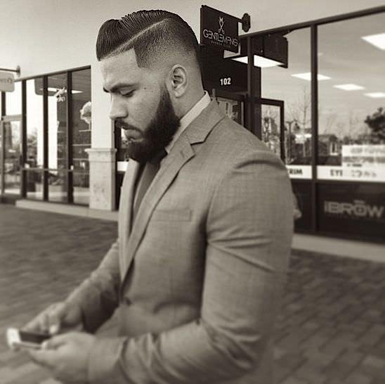 black hair cut for men