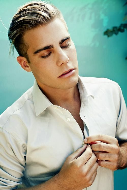 mens hair handsome