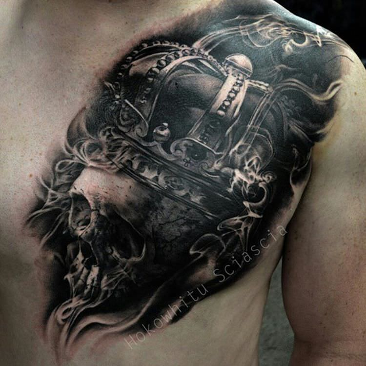 Skull Tattoo for men chest