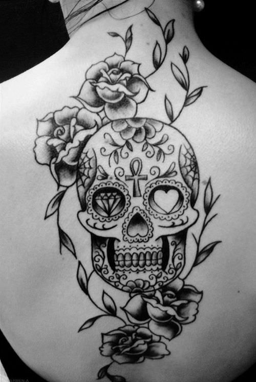Skull Tattoo Designs for Women Sugar