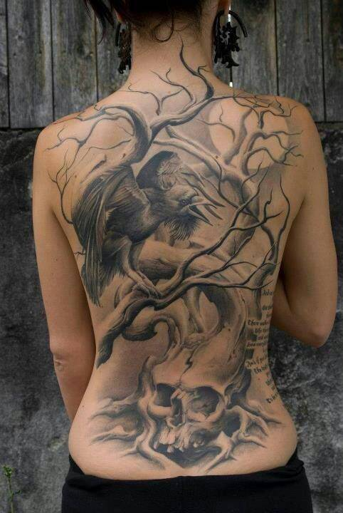 Skull Back Tattos 3