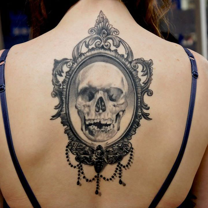 Skull Tattoo for Women Back