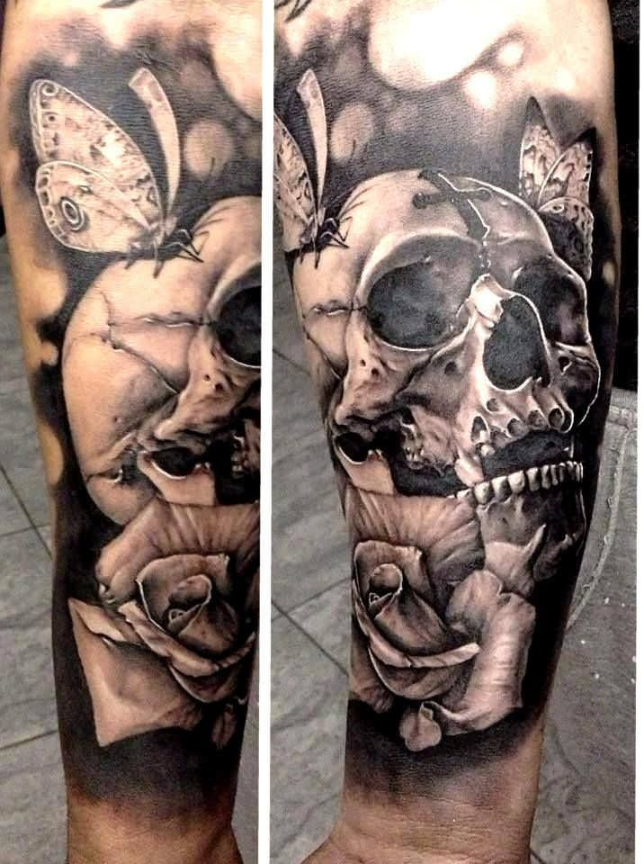 skull tattoo for men arms