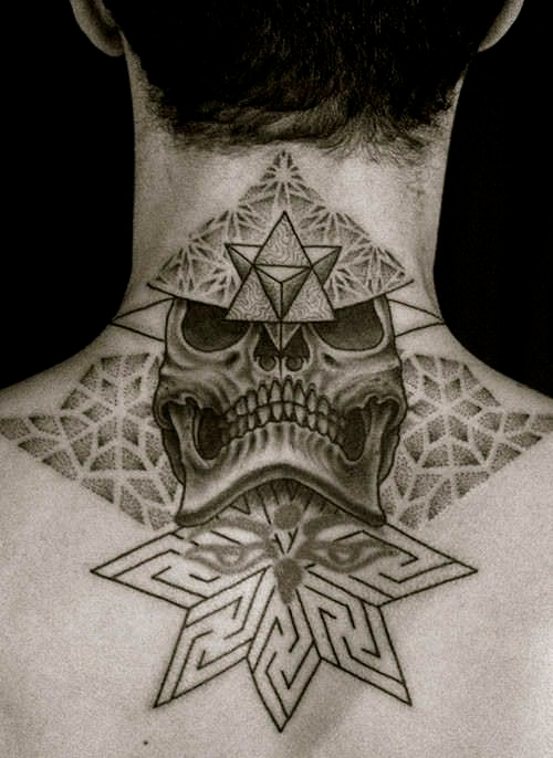 Skull Neck Tattoos