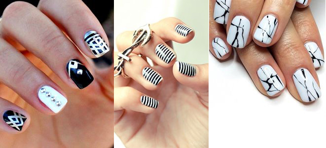 Amazing Black and white Nail Art Design
