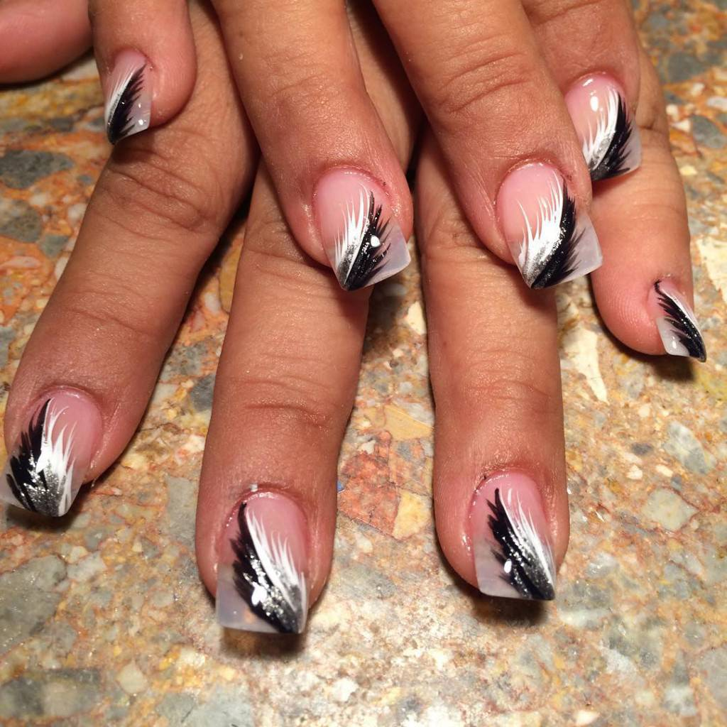 White Nail Ideas: 45+ Black And White Nail Art Designs, Ideas