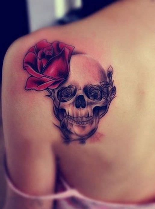 Rose and Skull Tatto