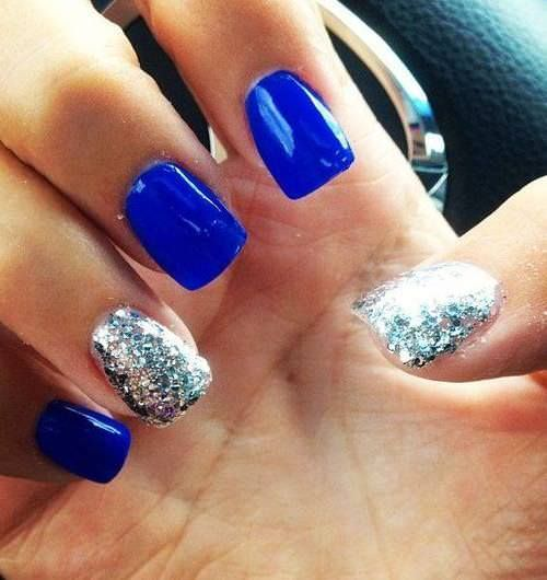 Blue Art nails