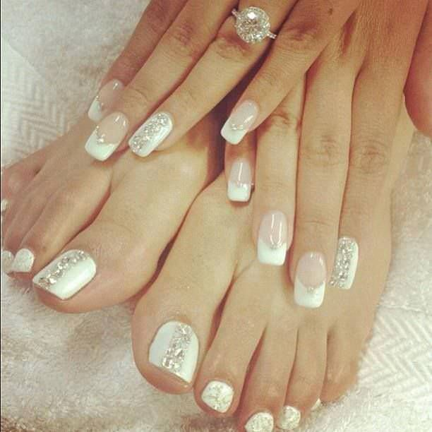 Bridal French Manicure. Wedding Nail Designs - 22+ French Tip Nail Art Designs, Ideas Design Trends - Premium PSD