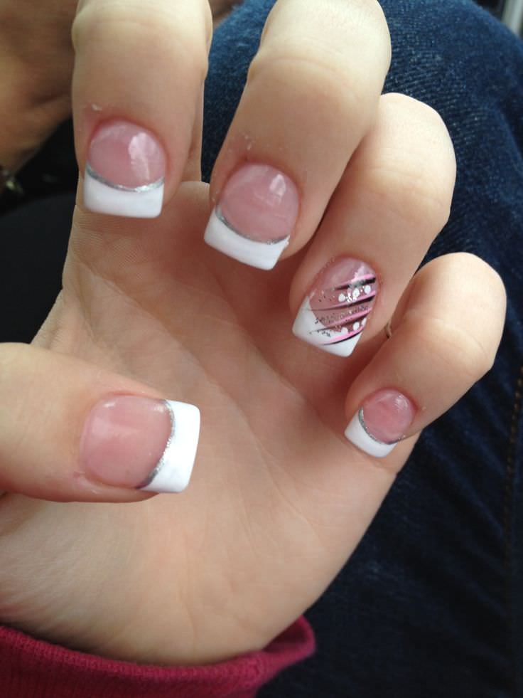 French Tip Nails: 22+ French Tip Nail Art Designs, Ideas