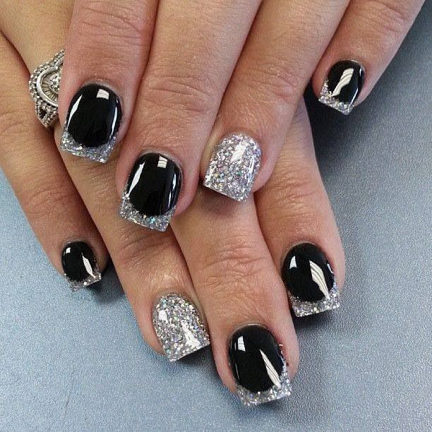 Neon Black And Silver Nail Designs