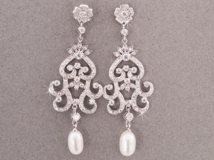 Tear Drop Wedding Earrings Design