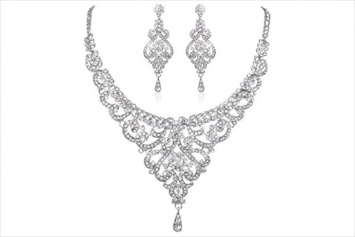 Crystal Wedding Necklace Design