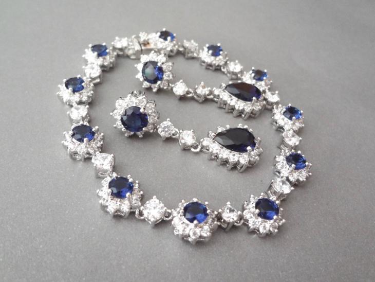 Sapphire Stone Wedding Bracelet Design