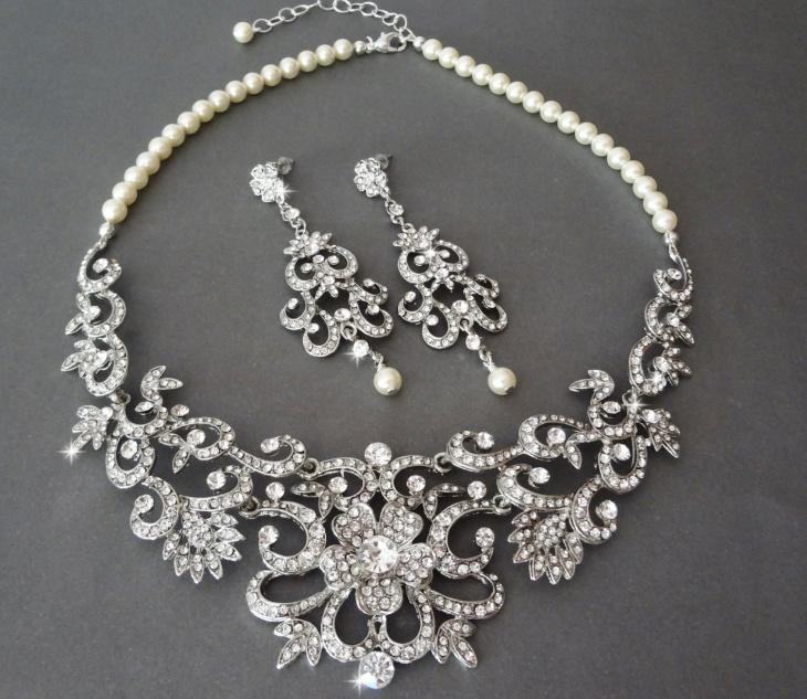 Wedding Statement Necklace Design