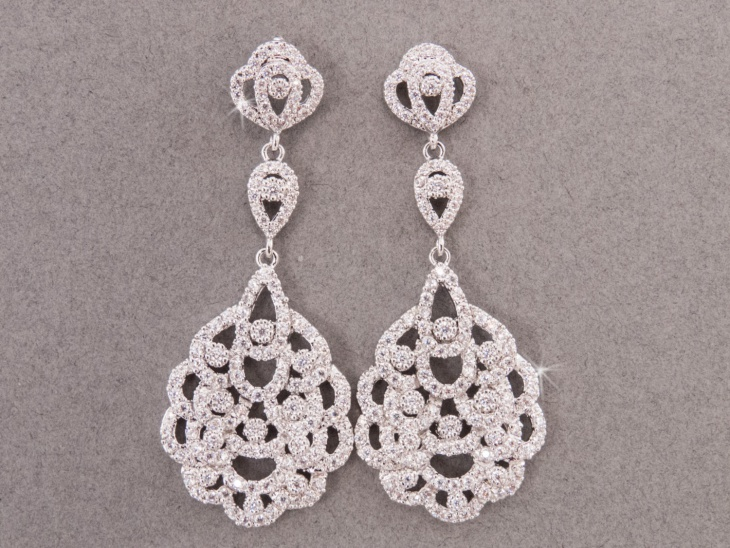 Rhinestone Wedding Earrings Design