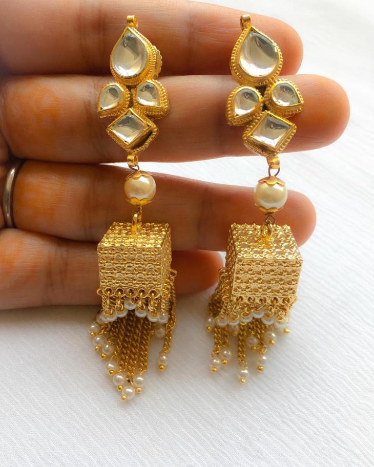 Dangle Wedding Earrings Idea