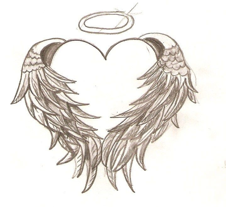 Heart Amp Angel Wings Tattoos
