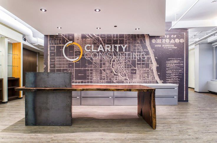 Clarity Consulting office Reception Desk